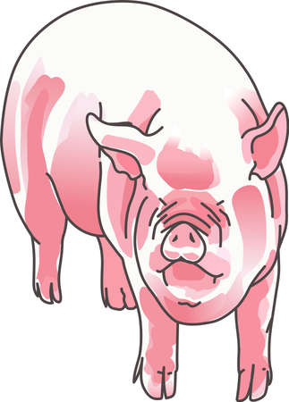 A good mud bath is just what a funny pig needs. A cute design from Great Notions.