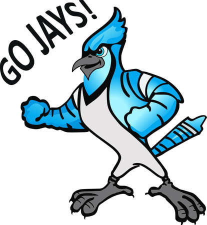 Show your team spirit with this Blue Jay  .  Everyone will love it! Ilustração