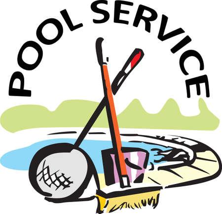 あなたのプールの清掃サービスのこのデザインを追加します。