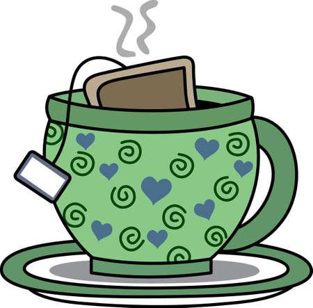 에 주전자를 넣고 좋아하는 가게에서 차의 큰 잔을 즐길 수 있습니다.