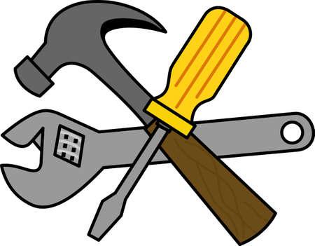 knocker:  handyman. Illustration