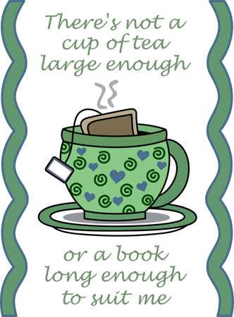 주전자를 켜고 좋아하는 가게에서 멋진 차 한잔 즐기십시오. 일러스트