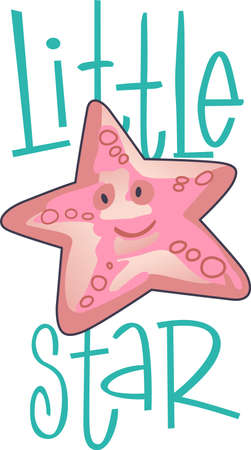 big smile: Happy starfish is here to brighten up your day with a big smile.  Share this cute starfish with someone special.  They will love it! Illustration