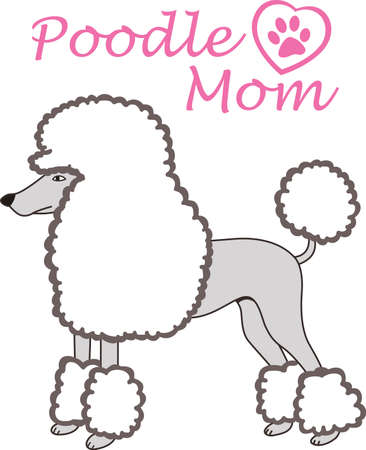 pups: My best friend is hard at work for me.  Show everyone how much your dog means to you.  They will love it! Illustration