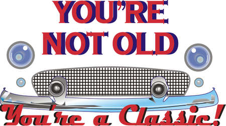 oldie: Your favorite antique car is not old.  Its a classic! Illustration