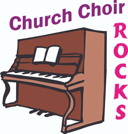 Nothing but church choir for the music lover you know  Illustration