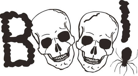 bony: This skull is perfect for Halloween.  Add to your shirt for when you go trick or treating.