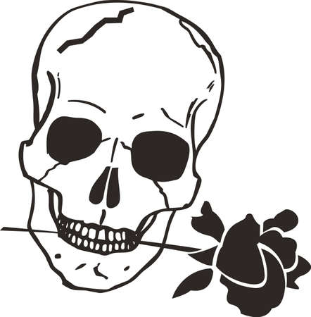 beenderige: This skull is perfect for Halloween.  Add to your shirt for when you go trick or treating.