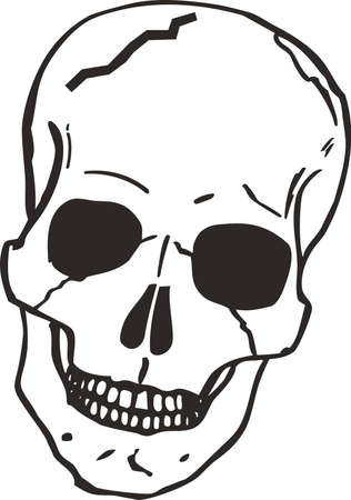 cranium: This skull is perfect for Halloween.  Add to your shirt for when you go trick or treating.