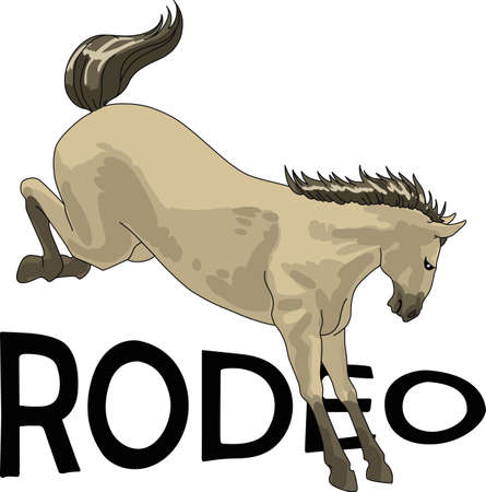 thoroughbred: Grab your boots and cowboy hat and head to the rodeo. Dont forget to give this adorable design for your favorite cowboy.  He will love it! Illustration