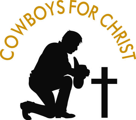 De cowboy die zijn vriend kwijt is een respectvolle ontwerp