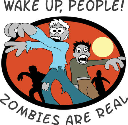 This is a cute cartoon zombies image that is perfect for Halloween.