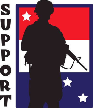 armed force: Show support for our troops with this special design