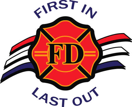 Show support for our firemen with this special design