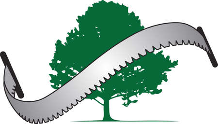 The perfect gift for a tree service company. Stock Illustratie
