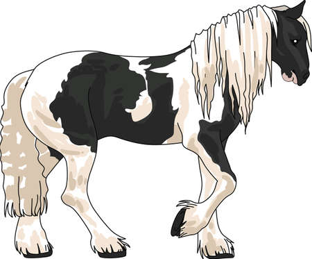 This graceful horse with the wind blowing its mane will be beautiful on a shirt, vest or jacket.   Illustration