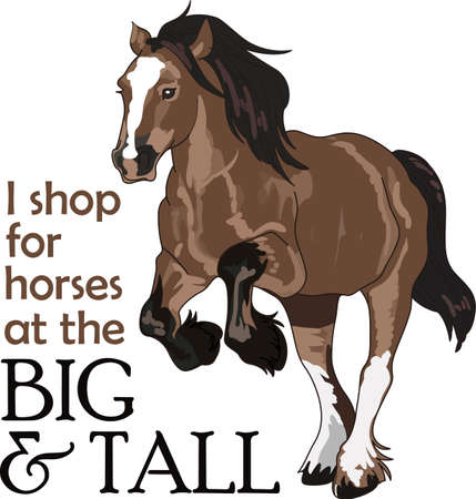 thoroughbred: This graceful horse with the wind blowing its mane will be beautiful on a shirt, vest or jacket.   Illustration