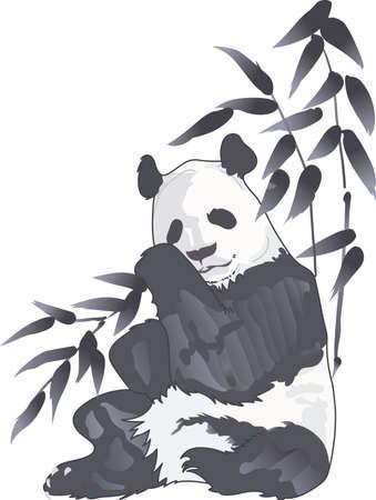 動物園を訪問楽しいけど、パンダのクマを見ることは非常に特殊。 一年中それを覚えています。  イラスト・ベクター素材
