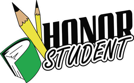 This is a perfect design to inspire your honor student for their hard work.