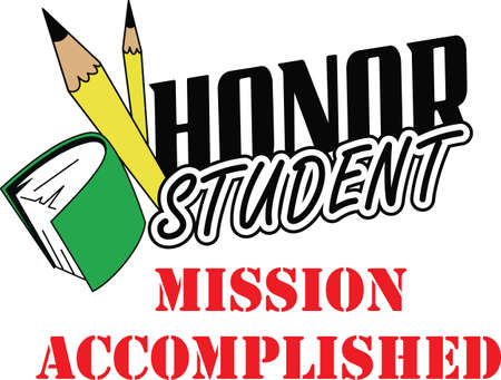 This is a perfect design to inspire your honor student for their hard work.    Illusztráció