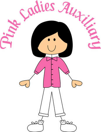 auxiliary: This is a beautiful image for the lady that loves to wear pink to volunteer at the hospital.