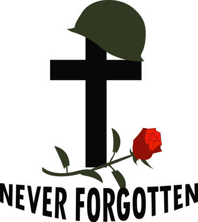 A hero's ultimate sacrifice is never forgotten. Vectores