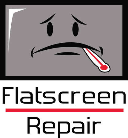 hdtv: This is a perfect design to promote your business of repairing computers Illustration