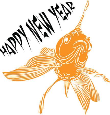 Gelukkig Chinees Nieuwjaar met deze prachtige goudvis.