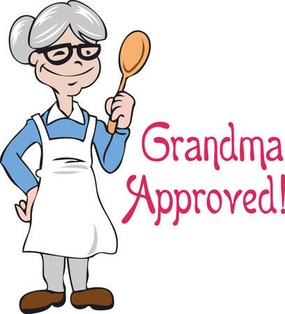 Grandma's cooking is extra good because it is made with love.