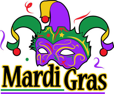 The king cake is am important part for your mardi gras celebration.  Use this design from Great Notions. Zdjęcie Seryjne - 45170436