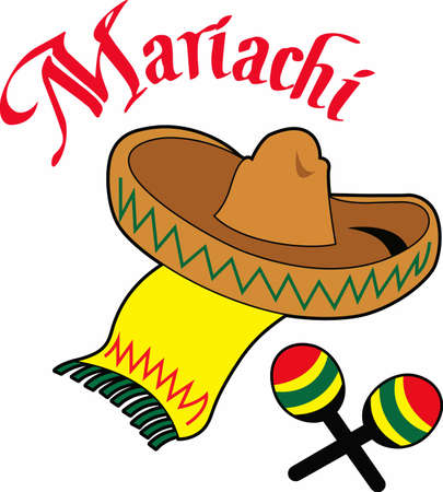 The perfect party favors or napkins for the mariachi band. Illustration
