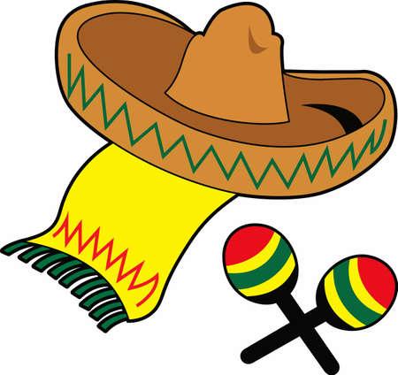La partie parfaite des faveurs ou des serviettes pour le groupe de mariachis. Banque d'images - 45170445