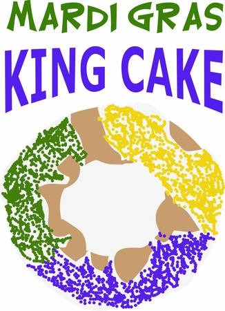 fat tuesday: The king cake is am important part for your mardi gras celebration.