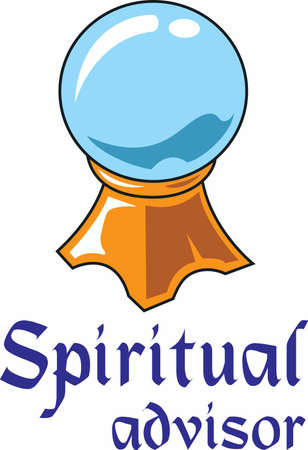advisor: The crystal ball is a perfect design to thank your spiritual advisor. Illustration