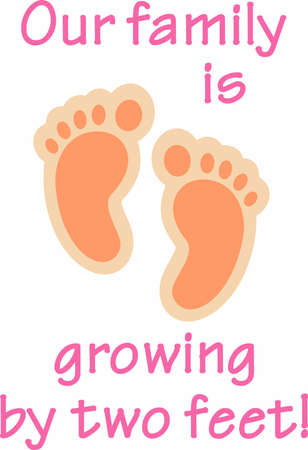 Newborn baby feet is a perfect design to add to baby shower favors.