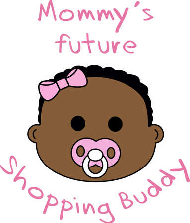 My meme spoils me is a cute design to put on a shirt for your baby girl to send to grandmas. Illustration