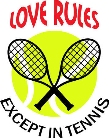 love is it: Give this unique gift to your favorite tennis player.  They will love it! Illustration