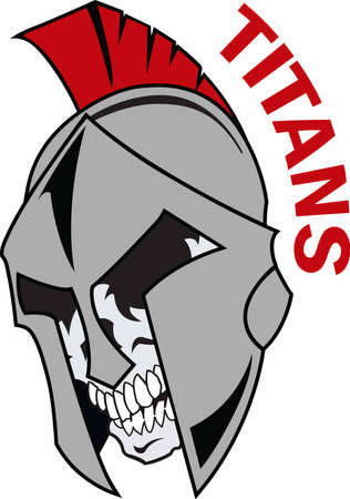 team spirit: Show your team spirit with this spartan  Illustration