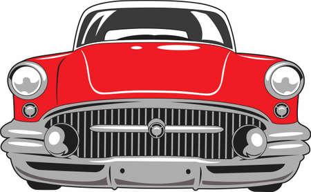 La voiture est un classique américain. Prenez cette conception pour le prochain salon de l'automobile. Il va adorer! Banque d'images - 45134494
