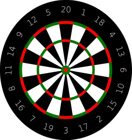 The perfect design for playing darts, place on shirts and hats.  They will love it!