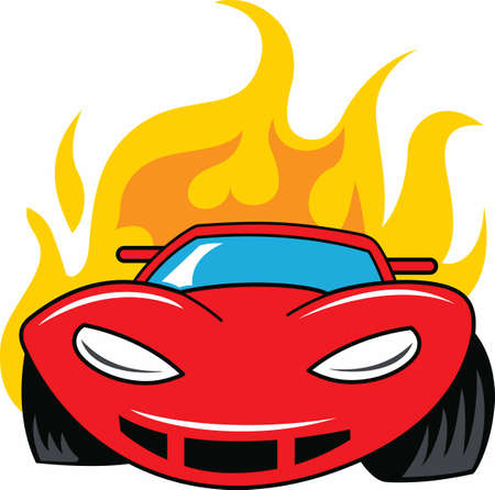 engine flame: Dads future speed demon. Get dad prepared for the teenager. Illustration