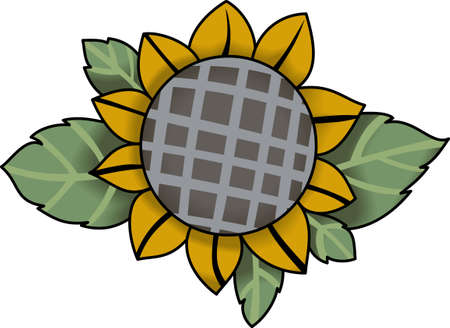 A sunflower is a perfect fall decoration.  Get these designs from Great notions.
