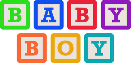 child s block: This cute design of baby blocks makes the perfect gift to babys nursery.  Mom and dad will love it!