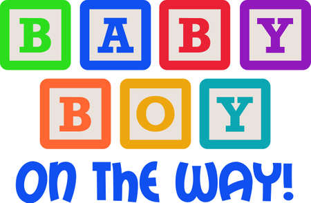 This cute design of baby blocks makes the perfect gift to babys nursery.  Mom and dad will love it!
