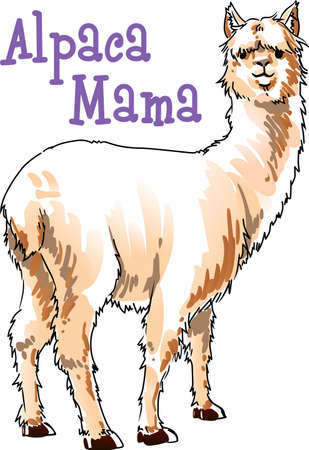 notions: I love my alpaca.  A cute design from Great Notions.