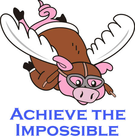 swines: Sure you can do that... when pigs fly.  Get your cartoon designs from Great Notions. Illustration