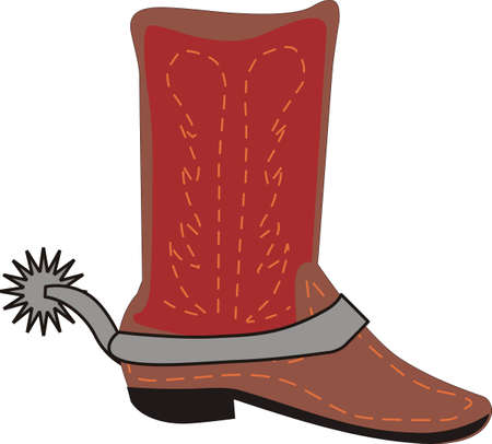 spur: Grab your boots and cowboy hat and head to the rodeo. Dont forget to give this adorable design for your favorite cowboy.  He will love it! Illustration