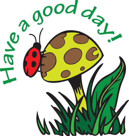 This adorable design of a ladybug and a mushroom is a perfect springtime design.  Get these designs from Great Notions.