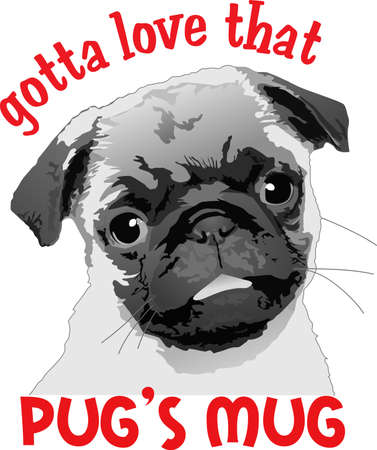 I love my cute pug.  A perfect gift for the dog owner from Great Notions. Çizim