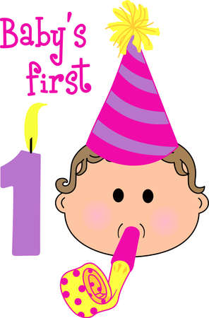Happy 1st birthday to a precious baby. Celebrate this special event !  Baby turns 1 year old with a confetti dot party.